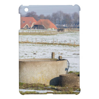 Water pump and well in winter snow landscape case for the iPad mini