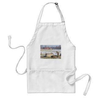 Water pump and well in winter snow landscape standard apron