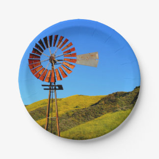Water Pumping Windmill Paper Plate