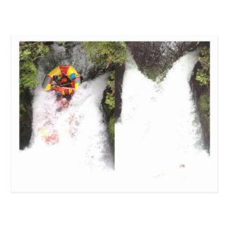 water rafting postcard
