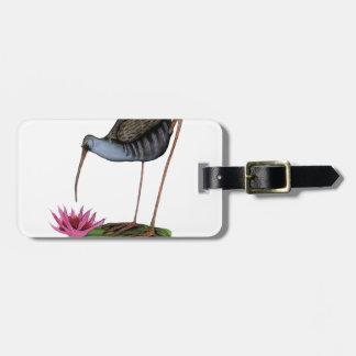 water rail wild bird travel bag tag