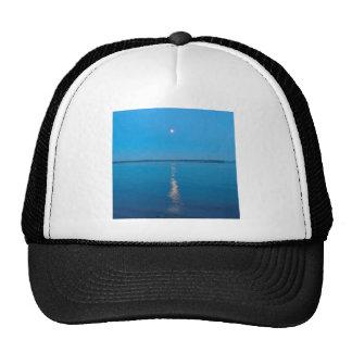 Water Reflected Moonlit Seas Hats