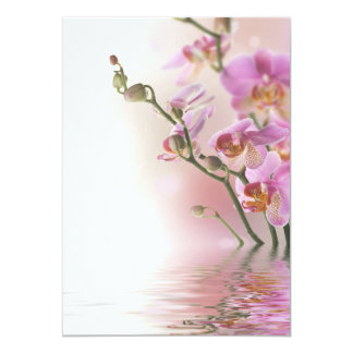 Water reflection orchids invitations