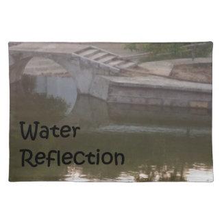 water reflection place mats
