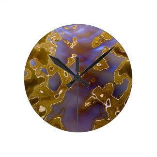 Water reflection surreal wall clocks