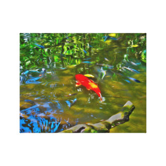 Water Reflections and the Koi Fish Canvas Canvas Print
