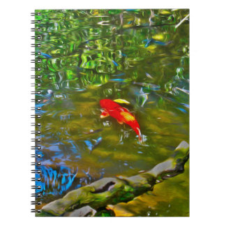 Water Reflections and the Koi Fish - Notebook