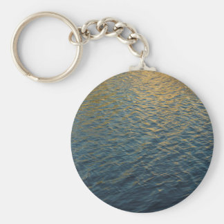 Water Reflections Basic Round Button Key Ring