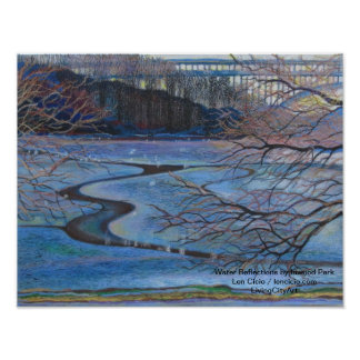 Water Reflections By Inwood Park Poster