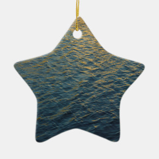 Water Reflections Ceramic Star Decoration