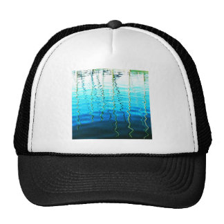 water reflections mesh hat