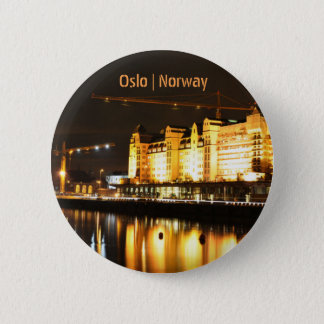 Water reflections in Oslo, Norway 6 Cm Round Badge