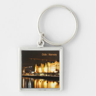 Water reflections in Oslo, Norway Key Ring