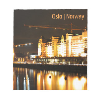 Water reflections in Oslo, Norway Notepad