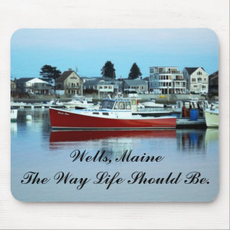 Water Reflections in Wells Maine Mouse Pad