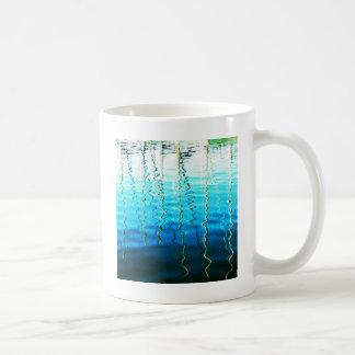 water reflections coffee mug