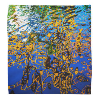 WATER REFLECTIONS NATURE ABSTRACT ART HEAD KERCHIEF