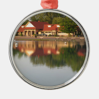 Water reflections Silver-Colored round decoration