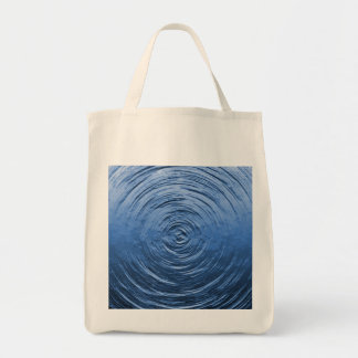 Water Ripple Blue Tote Bags