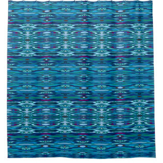 Water Ripple Reflections Blue Shower Curtain