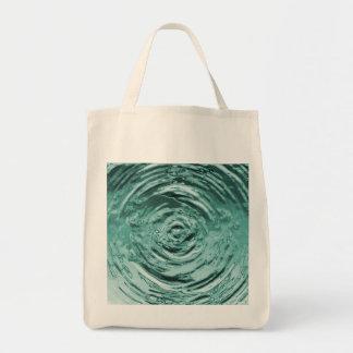 Water Ripple Teal Tote Bag