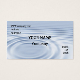 Water ripples business card