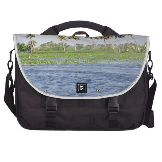 Water rippling in the coastal lagoon laptop commuter bag