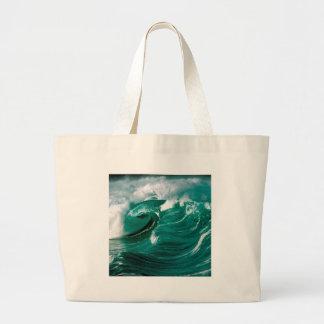 Water Rough Seas Ahead Canvas Bags