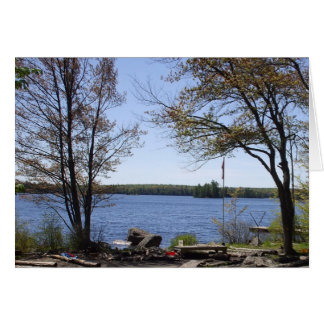 Water Scene and Trees Greeting Card