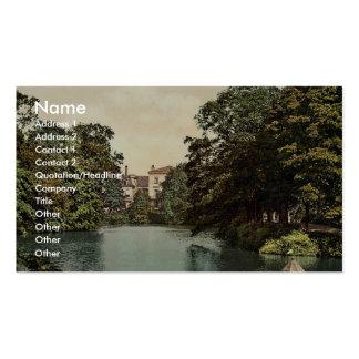 Water scene between Heedenthor and Bischofsthor, B Business Card Templates