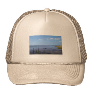 Water Scene - Wooden Post Markers Hats