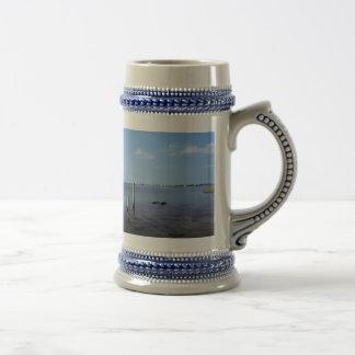 Water Scene - Wooden Post Markers Mug