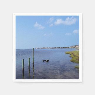 Water Scene - Wooden Post Markers Paper Serviettes