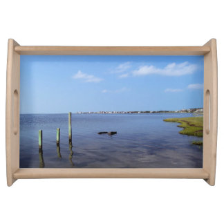 Water Scene - Wooden Post Markers Serving Trays