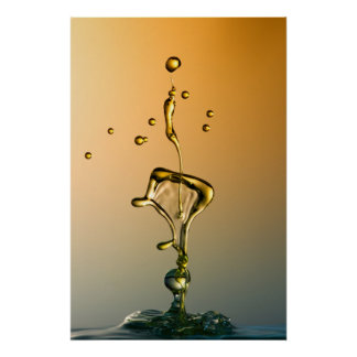 Water Sculpture: Golden Line Poster
