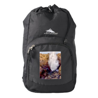 Water shower due to waves backpack