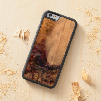 Water shower due to waves carved cherry iPhone 6 bumper case