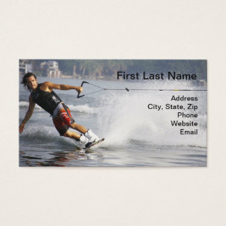Water Ski Business Card