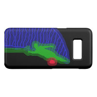 Water Ski Green and Blue Samsung Galaxy S8 Case