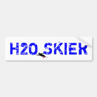 "Water Ski ""H2O SKIER"" Bumper Sticker"