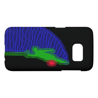 Water Skier Blue and Green Samsung Galaxy S7 Case