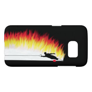 Water Skier With Flames Samsung Galaxy S7 Case