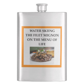 water skiing hip flask