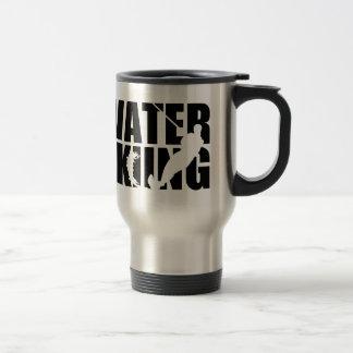 Water skiing travel mug