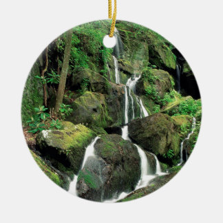 Water Smoky Mountains Tennessee Stream Round Ceramic Decoration