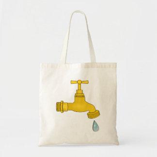 Water Spigot Tote Bags