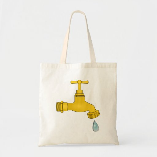 Water Spigot Tote Bags