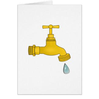 Water Spigot Note Card