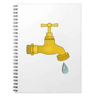 Water Spigot Spiral Notebook