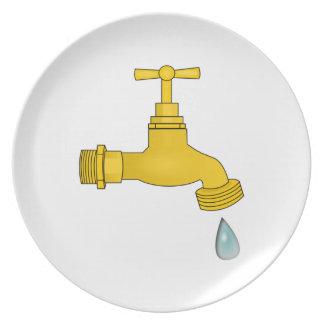 Water Spigot Dinner Plate